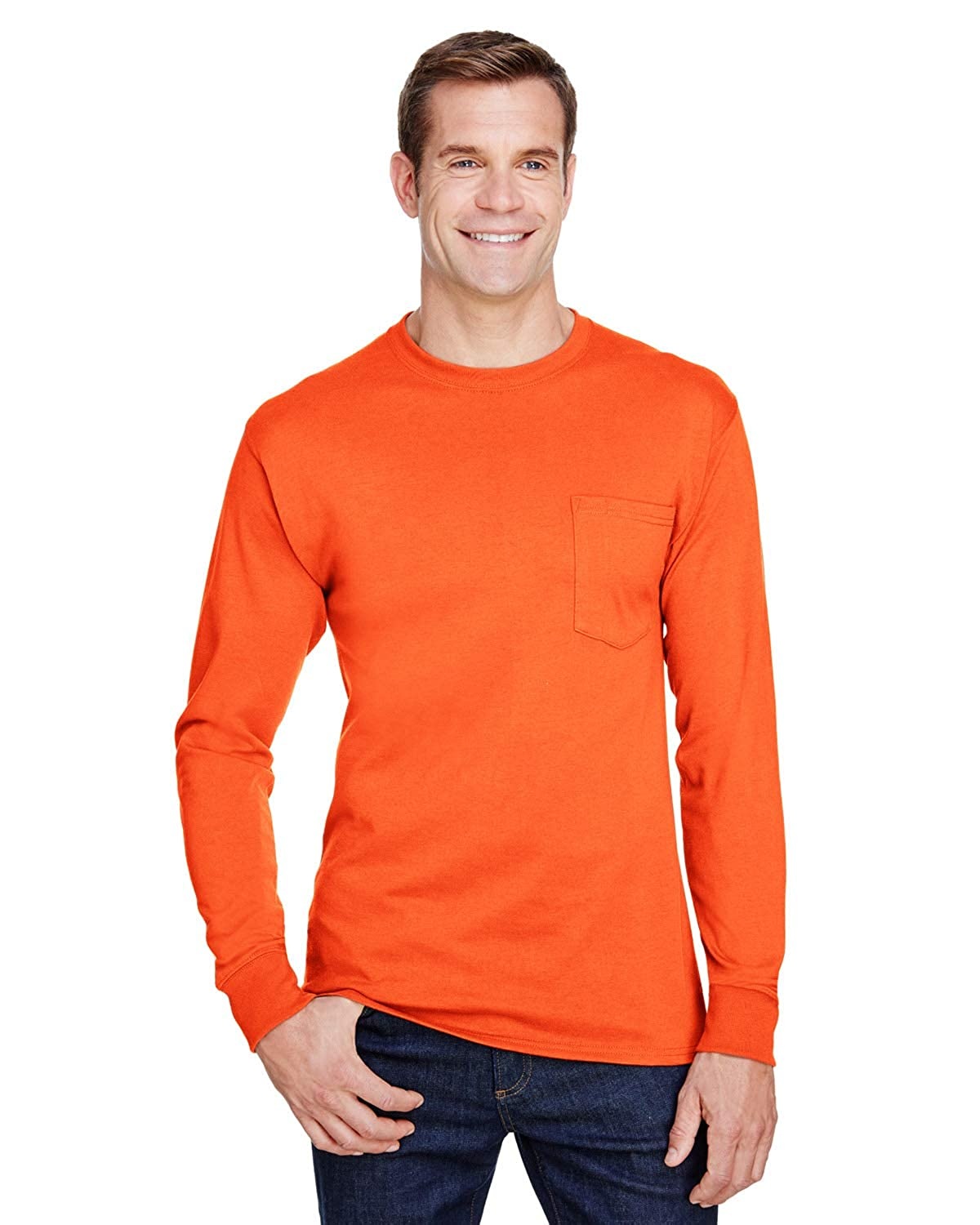 Hanes W120 Adult Workwear Long-Sleeve Pocket T-Shirt