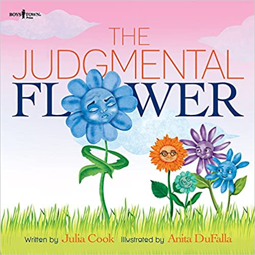 "School counselor review of ""The Judgmental Flower"" and amazon llink."
