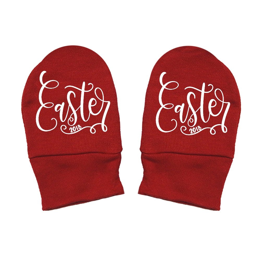 Mashed Clothing Unisex-Baby Easter 2018 Easter Thick Premium Script Thick /& Soft Baby Mittens