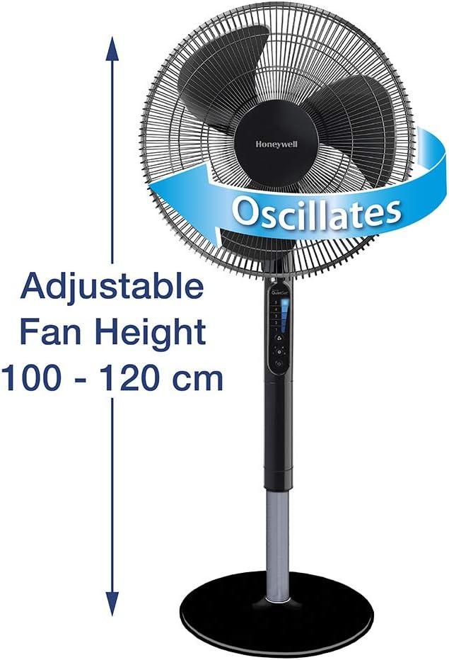 Honeywell quietset hsf600be - ventilador de pie oscilante avanzado ...