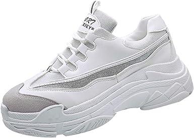 Zapatillas Deportivas De Mujer,YiYLunneo Sneakers Antideslizantes Moda Casual Zapatos Zapato Deportivo Plano Modelos De Pareja Transpirable Shoes: Amazon.es: Ropa y accesorios