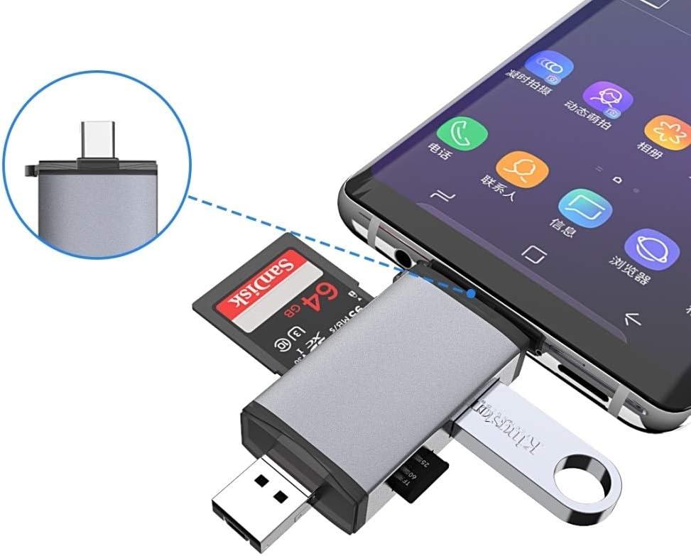 XulilinQ Typce-C+USB+Micro USB OTG Card Reader