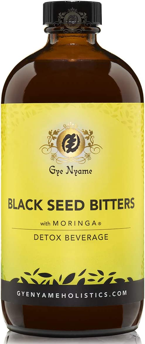 Black Seed Bitters with Moringa 3 x 16 oz Bottles~Gye Nyame~Detox and Save