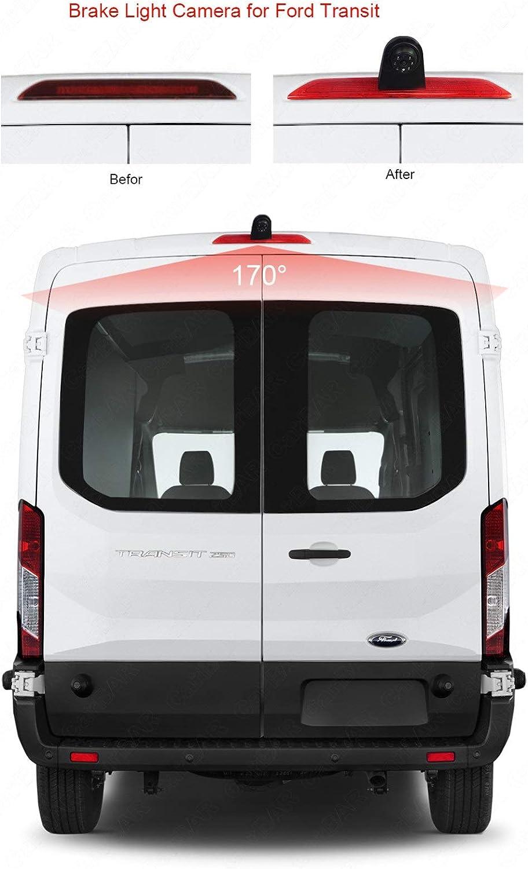2018 Misayaee C/ámara de visi/ón trasera integrada en la tercera luz de freno Transporter c/ámara espec/ífica del veh/ículo para Ford Transit 150//250//350 V636 2014