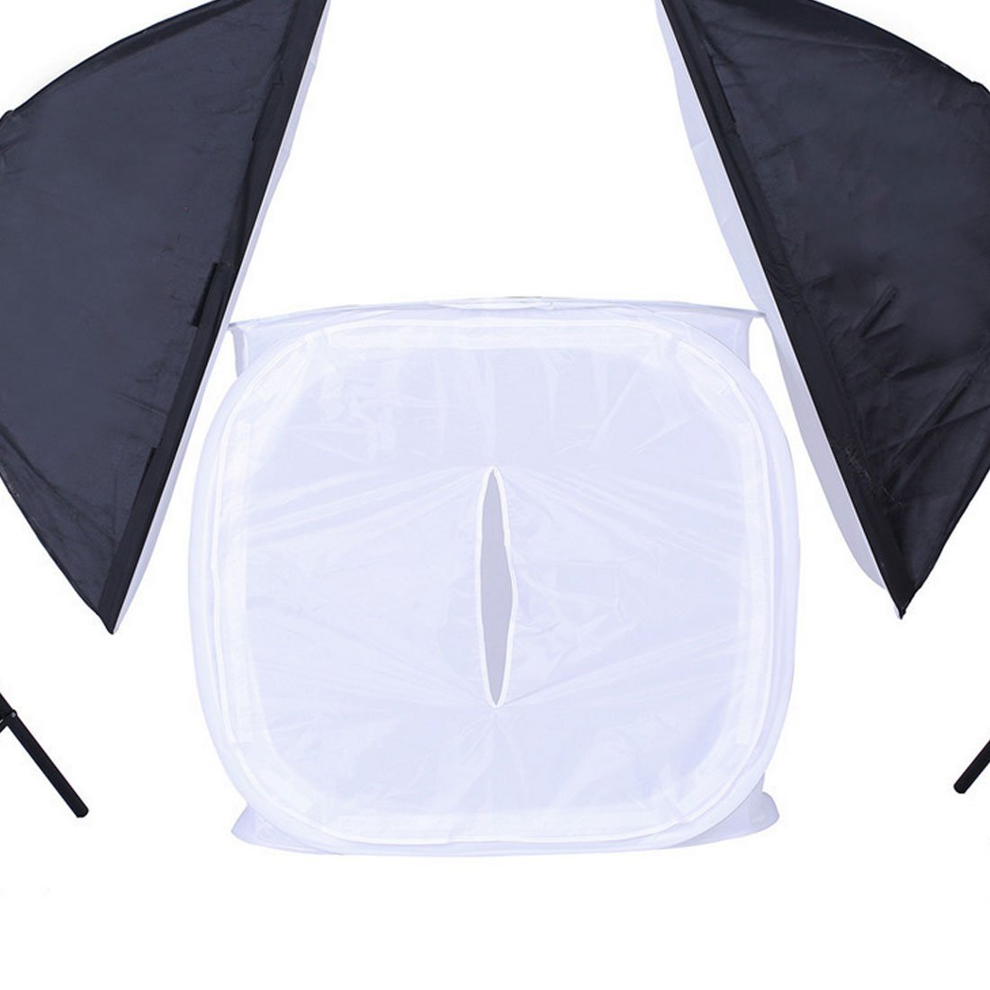 LILIERS Photo Studio Soft Box Shooting Tent Softbox Cube Box,60 x 60cm//Photo Light Tent+Portable Bag 4 Backdrops