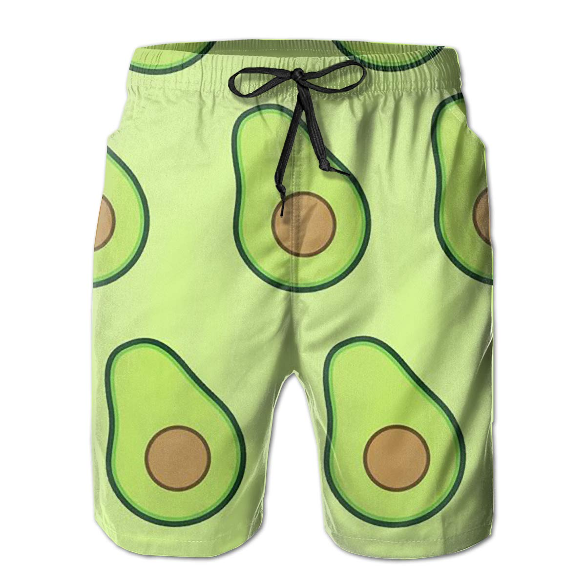 Wexzss Avocado Funny Summer Quick-Drying Swim Trunks Beach Shorts Cargo Shorts
