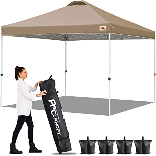 ABCCANOPY 10 x10 Pop up Canopy Instant Outdoor Tent Instant Shelter