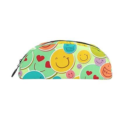 BONIPE - Estuche para lápices de emoticonos sonrientes ...