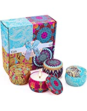 Yinuo Candle Potpourri Relax Deep Sleep Scented Candles, Gardenia, Lavender, Jasmine and Vanilla, Natural Soy Wax