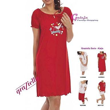 c2c7c8bf76 Graziella Nachthemd Katja 95 cm lang Sleepshirt mit Kräuselsaum 11 Gr. 36/38-56/58  Nachtwäsche 100% Baumwolle: Amazon.de: Bekleidung