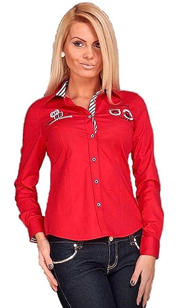Brandneu !! Designer Damen Bluse von CARISMA in 6 Farben CRM1002 mit Stickerei