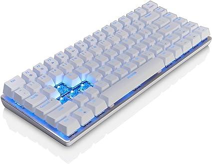 Eclado De Juego Mecánico Teclado Con Cable Teclado Azul De Retroiluminación Teclado De 82 Teclas (blanco) by Qisan