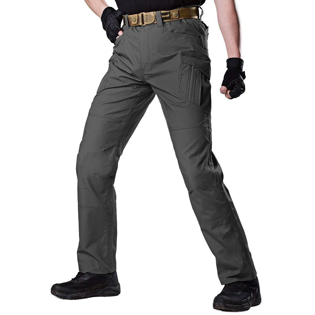 Lannister Fashion Herren Hose Taktische Wasserabweisend Trekking Bekleidung Mit Hose Taschen Multi Cargohose Outdoor Workout Wanderhose Freizeithose
