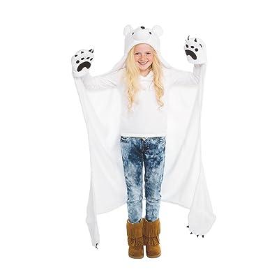 Fin Fun Wild Things Snowcap Polar Bear Wearable Hooded Blanket: Home & Kitchen [5Bkhe0300059]