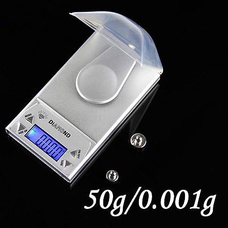 Joyería escala, hunpta 50 G/0.001g electrónico Digital pantalla LCD escala bolsillo portátil