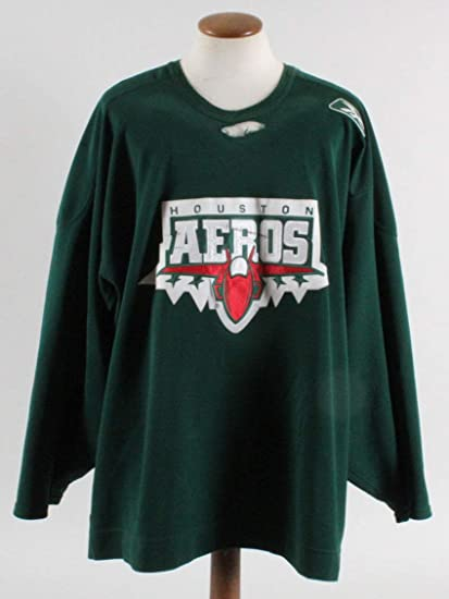 Derek Gustafson Game-Worn Practice Jersey Houston Aeros at Amazon s ... fdebdd17c