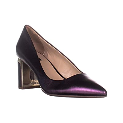 DKNY Womens Elie Leather Dress Pumps Purple 11 Medium (B, M) | Shoes