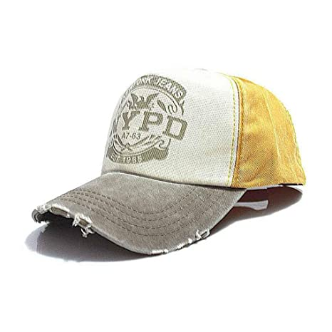 Junecat Equipada Gorro Sombrero de Hip Hop Gorras Caps Unisex Hombre Gorra de béisbol de algodón