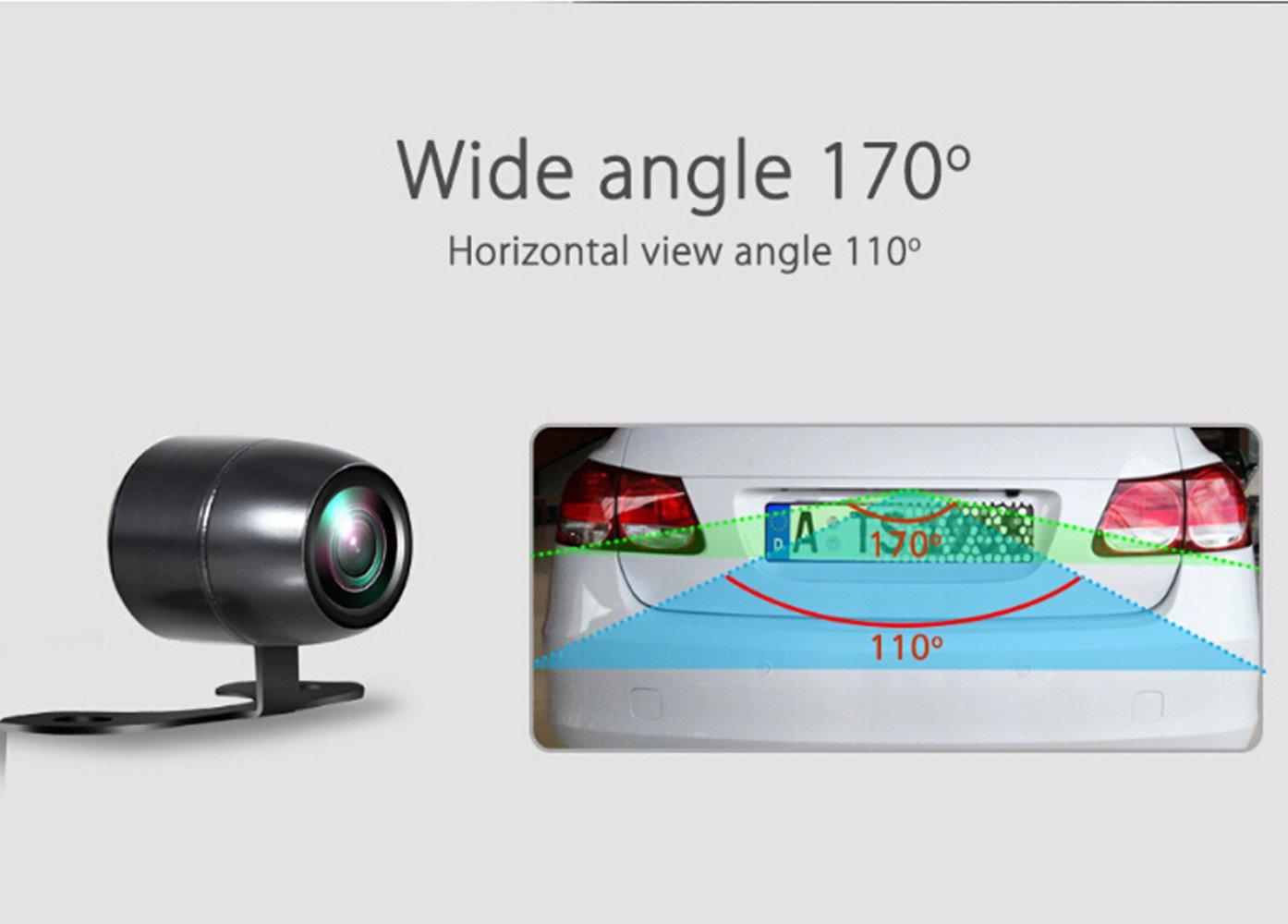 Roverone universel de voiture vue arri/ère de stationnement Papillon Camera HD Couleur Recul /étanche lecteur de sauvegarde Cam/éra avec large Angle de vue