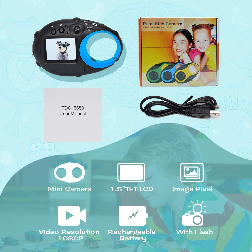 ISHARE Kids Camera Cute Camera 12MP 4× Digital Zoom Digital Camera with Video for Girls and Boys,Blue(Kids Camera with Photo Frame) by ISHARE (Image #7)
