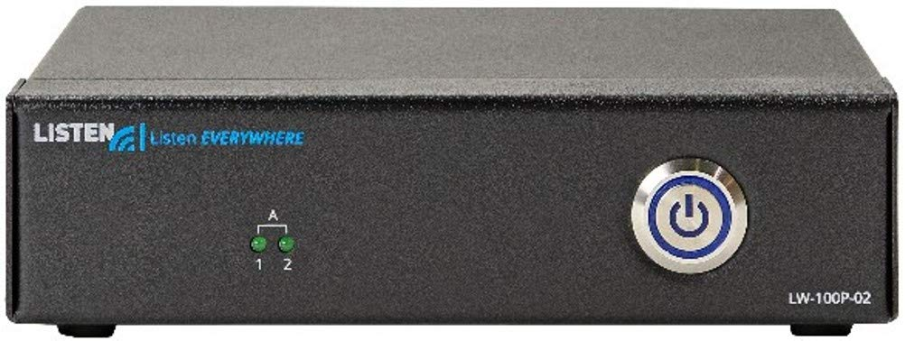 Listen Technologies LW-100P-02-01 Listen Everywhere 2 Channel Server (North America), Up to 1000 Users, 2 Mono Channels, Low Latency, Uses Existing Wireless Network, iOS/Android App Support