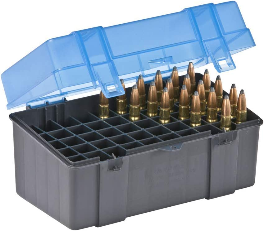 Small Medium Large Cartridge Case Plano 50 Round Rifle Ammo Bullet Box Case