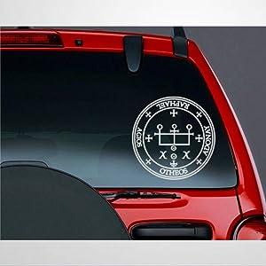Archangel Raphael Sigil CAR Decal Angel Symbol Mystic Seal Stickers Car Decal Window Decal Vinyl Decal Die Cut Decals Funny Laptop Stickers Bumper Stickers Present