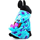 Dog Cat Dinosaur Costume With Hood Funny Dog Flannel Jumpsuit Cloth Party Cosplay Apparel