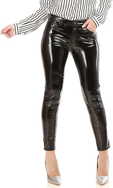 pantalon femme vinyle