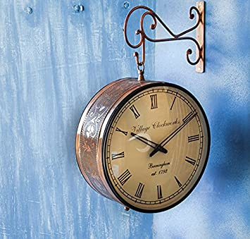 matchless 12 inches railway double sided wall clock