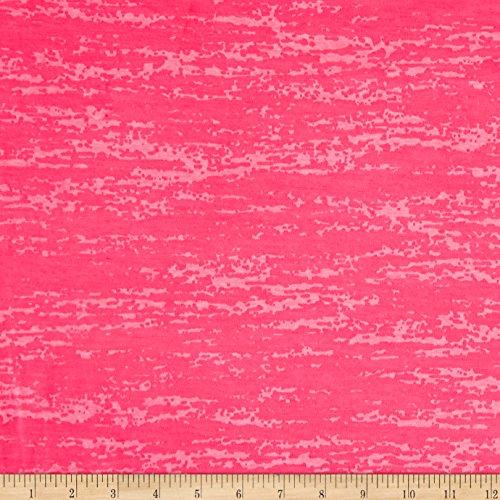(Lavitex Splash Burnout Jersey Knit Neon Fabric, Hot Pink, Fabric by the yard)
