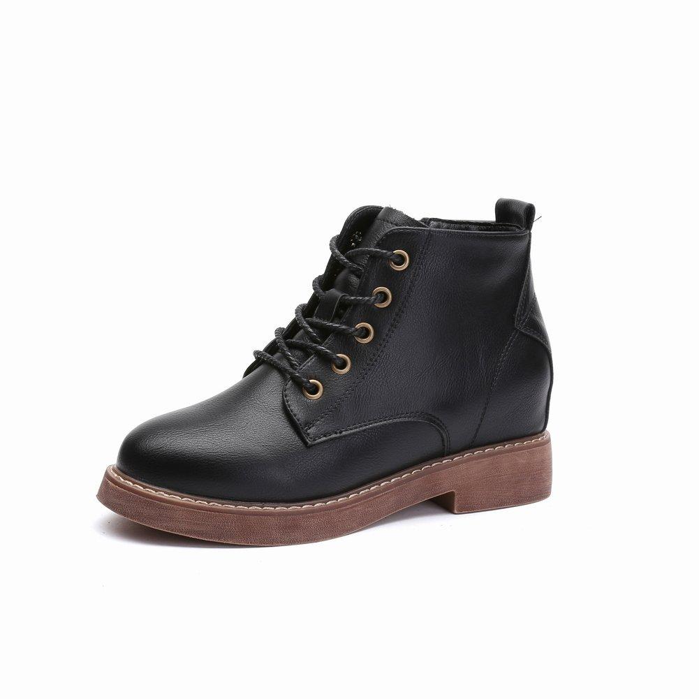 Martin Stiefel Stiefel mit Niedrigem Absatz mit Schnürstiefeln , schwarz , EUR35