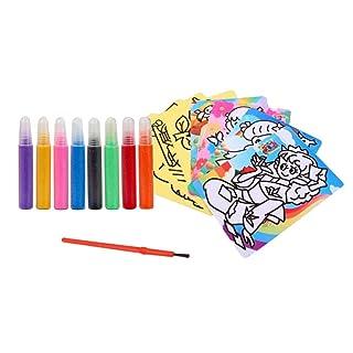 STOBOK Bambini Colorati Sabbia Pittura Fai da Te educativo Kit Art Sabbia (8 Tipi di Colori)