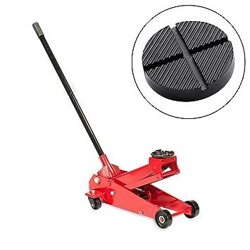 DXP Gato hidráulico (hasta 3 toneladas) Con Ruedas Para Taller Y Bricolaje con Alfombra de goma 125mm: Amazon.es: Coche y moto