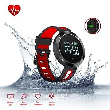 Fitness actividad Tracker, pulsera inteligente con monitor de frecuencia cardiaca, presión arterial Monitor,