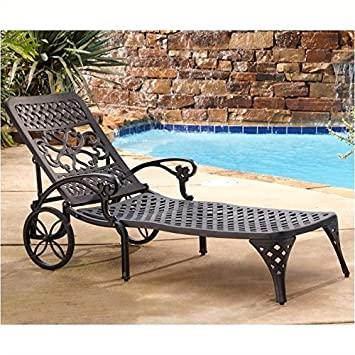 Amazon.com: Hawthorne Colecciones Patio chaise lounge silla ...