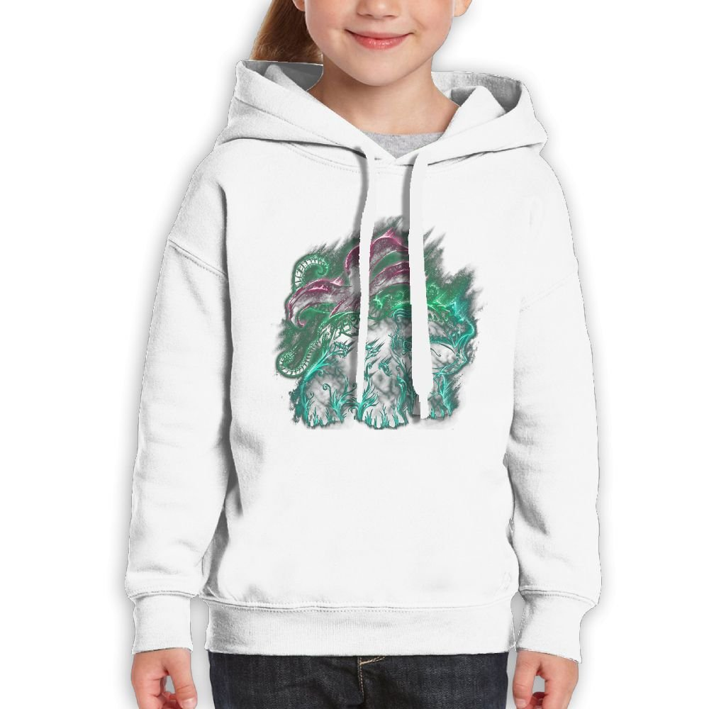 FHHHIOP Grass Type II Classic Pattern Youth Print Sweatshirts