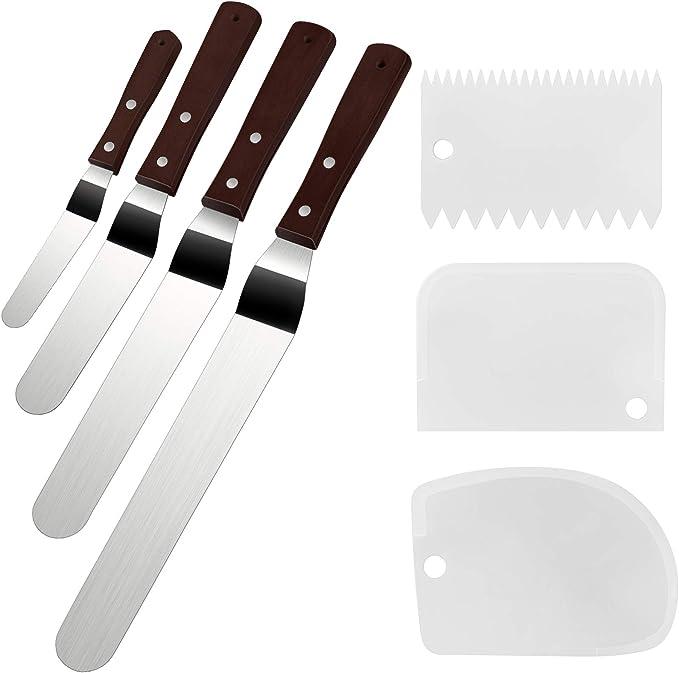 3 color marble cake - spatula set
