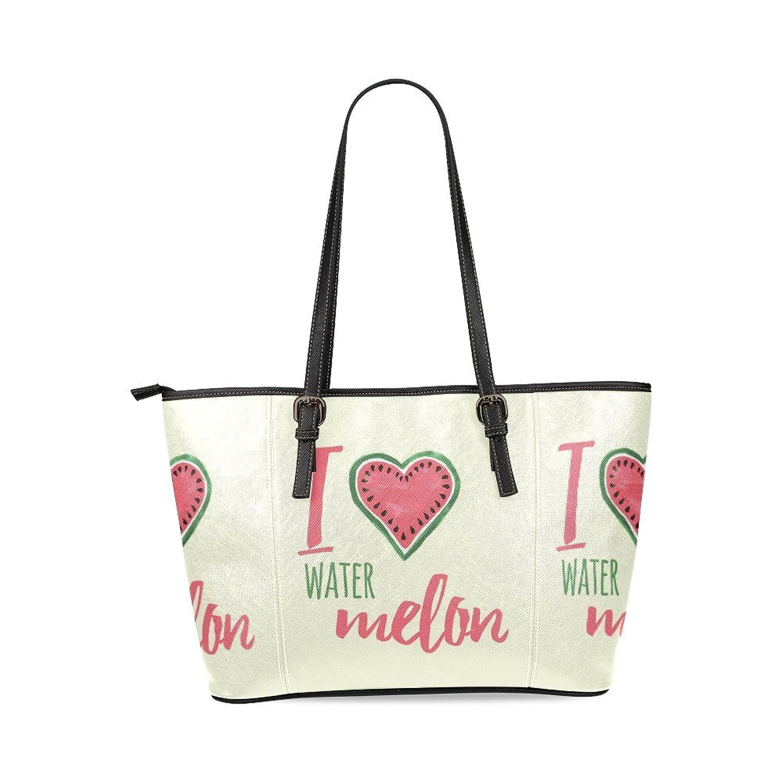Watermelon and Lettering Custom PU Leather Large Tote Bag/Handbag/Shoulder Bag for Fashion Women /Girls
