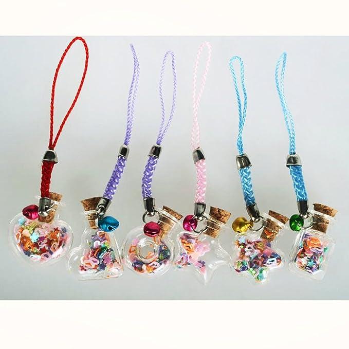 PIXNOR Botellas de vidrio deseo 10pcs amor corazón forma deseo Mini Nota arte frascos de vidrio con corcho (claro): Amazon.es: Bricolaje y herramientas
