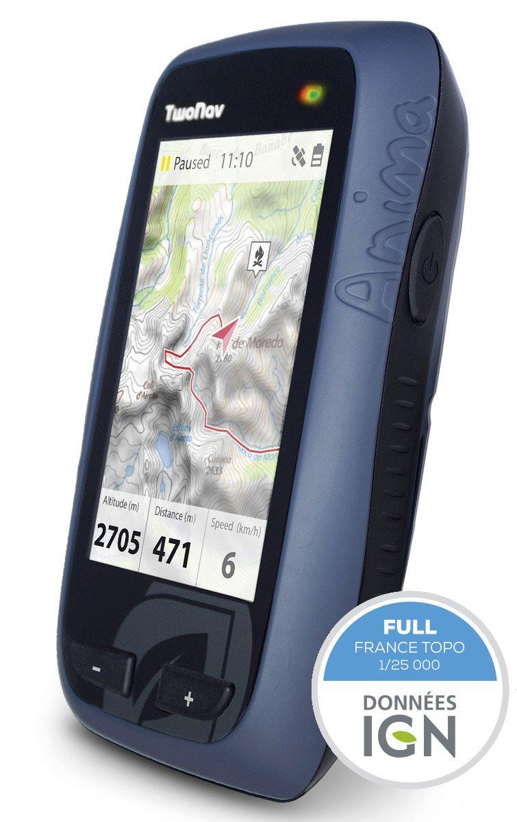 Two Nav GPS Anima Rando/Fahrrad + Karte Frankreich Volle GPS für randonné/Fahrrad/Marineblau schwarz