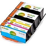 Gohepi 934XL/935XL Compatibile per Cartucce HP 934XL 935XL, 2 Neri/Ciano/Magenta/Giallo 5-Pacco Funzionano con HP Officejet Pro 6830 6230 6820 6825 6812 6815 6835 6836