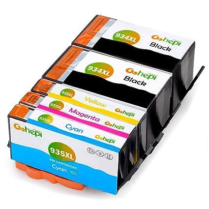 Gohepi Reemplazo para HP 934XL 935XL Cartuchos de tinta Alta Capacidad Compatible con Impresoras HP Officejet Pro 6830 6230 6820 6812 6815 6825 6835 ...