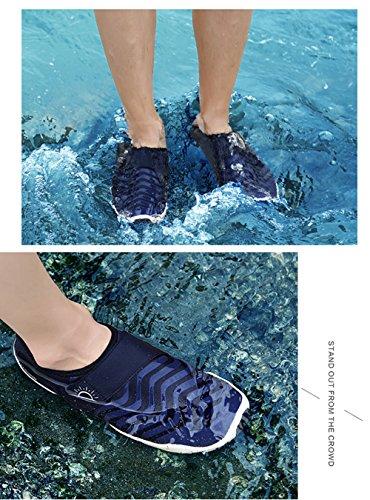 L-RUN Unisex Watschuhe Outdoor Mutifunktional Sport Atmungsaktives Mesh Casual Flat-Heels Marine