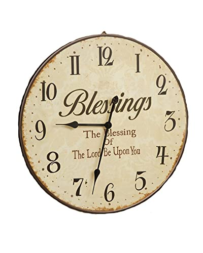 Your Heart s Delight Blessings Wooden Clock, 23-Inch