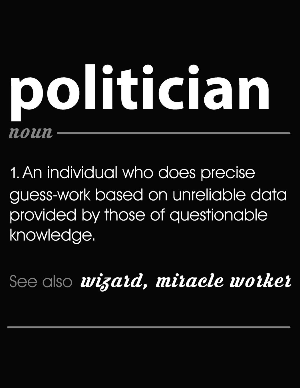 Politician: Funny Blank Line Politician Definition Notebook (8.5 x 11 - 110  blank pages): Publishing, Zane: 9781793442987: Amazon.com: Books