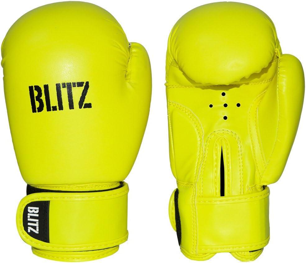 BLITZ KIDS 6oz BOXING KICKBOXING THAI GLOVES BAG MITTS BOXERCISE SPARRING  CHILD