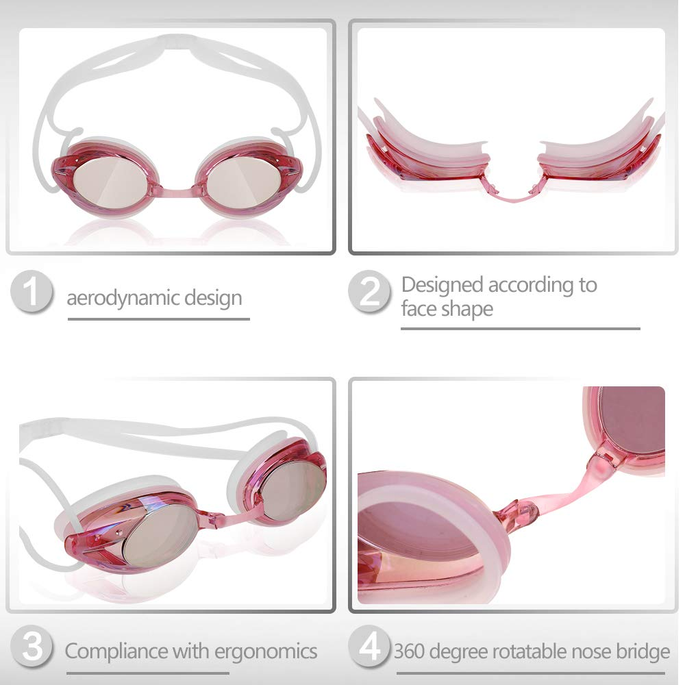 UV Protection Zacro Silicone Swimming Cap with Swimming Goggles with No Leaking Anti Fog