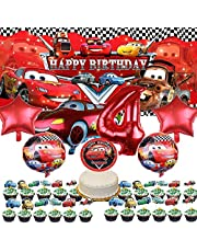 Disney Car 4th Party Supplies | McQueen Birthday Decorations | Fourth | 4 | Banner | Balloons | Boy | Backdrop