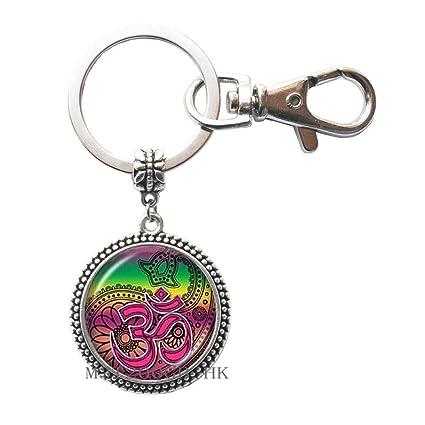 Om Aum Ohm - Llavero con diseño de Buda Namaste, joyería de ...